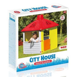 Casuta de joaca pentru copii cu margini si colturi rotunjite Dolu City House