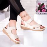 Sandale cu talpa ortopedica dama bej Doloria