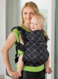 Marsupiu Isara Toddler Full Wrap Conversion Diamonda Black Denim