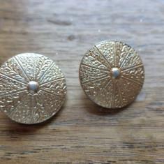 Cercei clips metalici auriu stins