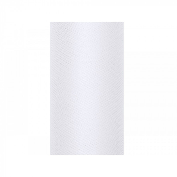 Tulle alb 0,3 x 9m