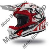 MBS Casca motocross Ufo Plast Intrepid, alb/rosu/negru, M, Cod Produs: HE134M