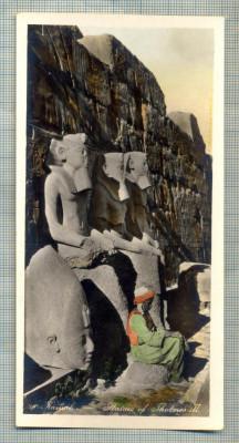 AD 596 C. P. VECHE - KARNAK - STATUES OF THOTMES III -EGYPT foto