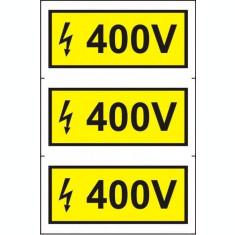 Indicator 400 V (3 etichete pe coala) - Semn Protectia Muncii