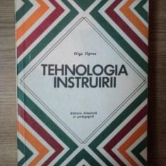 TEHNOLOGIA INSTRUIRII de OLGA OPREA , 1979