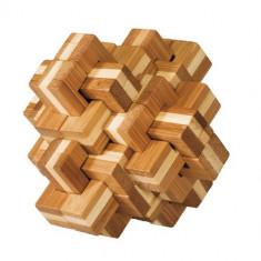 Joc logic IQ din lemn bambus Ananas 3D