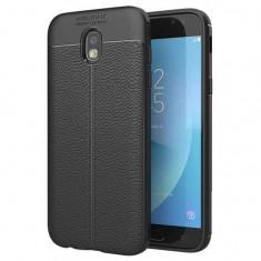 Husa Iberry Litchi Flexible Neagra Pentru Samsung Galaxy J3 J330 2017, Negru, Silicon, Carcasa