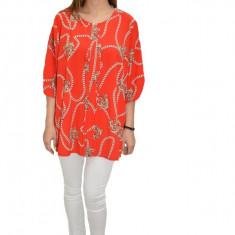 Bluza lejera, model vintage in nuanta de rosu