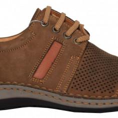 Pantofi barbati casual perforati din piele cu siret Otter 9559