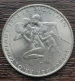 (A838) MONEDA DIN ARGINT GERMANIA - 10 MARK 1972, LIT. D, JOCURILE OLIMPICE