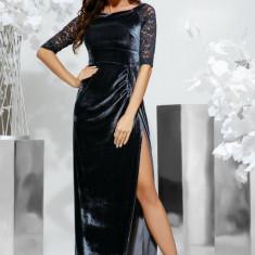 Rochie lungă cu taietură