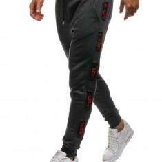 Pantaloni de trening bărbați grafit-roșu Bolf 0921
