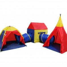 Set 3 Corturi de Joaca pentru Copii cu Tunele 5-in-1 Multicolore