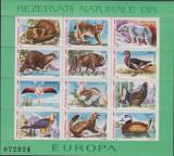 RTRNS - REZERVATII NATURALE DIN EUROPA - FAUNA SI FLORA - BLOCURI - AN 1987, Nestampilat