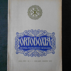 ORTODOXIA. REVISTA PATRIARHIEI ROMANE. ANUL XXIV, Nr. 1 IANUARIE - MARTIE, 1972