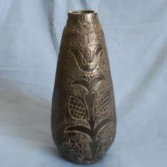 Vaza veche ceramica neagra