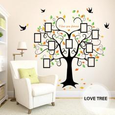 Sticker decorativ Copacul iubirii cu rame foto