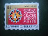 HOPCT TIMBRE MNH 589 TARGUL GRAZ 1981  -1 VAL AUSTRIA