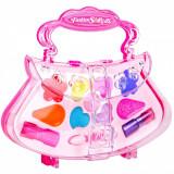 Set accesorii machiaj pentru fetite, model gentuta, multicolor