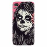 Husa silicon pentru Apple Iphone 4 / 4S, Mexican Girl Skull
