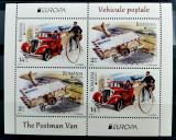 ROMANIA 2013 Europa Vehicule postale - Bloc 4 timbre MNH - LP 1979 a - cota 39,9, Nestampilat