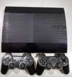 Ps3 modat 320Gb SuperSlim+2 manete+GTA 5, Fifa 19, Minecraft 20 jocuri
