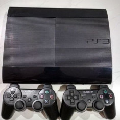 PS3 super slim  modat 320Gb+GTA 5,Fifa 19,Minecraft 30 JOCURI pe hdd