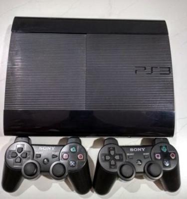 Ps3 modat 320Gb SuperSlim+2 manete+GTA 5, Fifa 19, Minecraft 20 jocuri foto