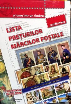 LISTA PRETURILOR MARCILOR POSTALE ROMANESTI - NOUA, EDITIE 2020 !!!! foto