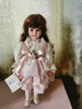 Păpușă porcelan fin