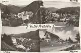 Valea Prahovei-mozaic,Sinaia,Busteni,Azuga,Predeal,necirculata,scrisa 1958, Printata
