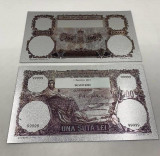 100 LEI 1931 (REPLICA/REPRODUCERE)-POLIMER (PLASTIC) PLACATA CU ARGINT 999‰