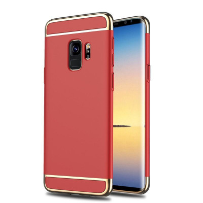 Husa Samsung Galaxy S9 Flippy Luxury Plating 3 in 1 Rosu foto