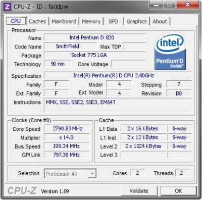 CPU Procesor PC Intel Pentium D 820 2.8Ghz/2MB/800mhz socket 775 upgrade P4 dual foto