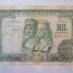 Rara! Spania 1000 Pesetas 1957
