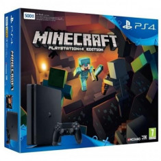 Consola PlayStation 4 Slim 500 GB + joc Minecraft PS4