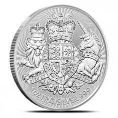 Moneda argint 999 lingou, The Royal Arms 2019 1 uncie = 31 grame
