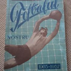 pronosport prezinta fotbalul nostru 1905-1957 o pagina lipsa si coperta spate