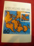 Maxima 1980 Berlin - Personalitati - 100 Ani Alfred Wegener - Geograf -Harta