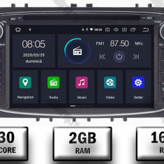 NAVIGATIE FORD FOCUS MONDEO S MAX Transit Tourneo ANDROID 9 Quadcore PX30 2GB RAM + 16GB ROM CU DVD 7 INCH AD BGWFORDO7P3 B