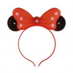 Cordeluta Minnie Mouse cu LED, urechi si fundita luminoasa