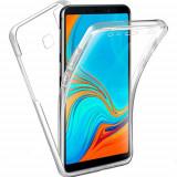 Husa Protectie 360° Fully PC & Glass (TPU + Plastic) Samsung Galaxy A9 2018, Transparent, Alt material
