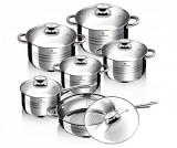 Set vase pentru gatit 12 piese Gourmet Line - Blaumann, Gri & Argintiu