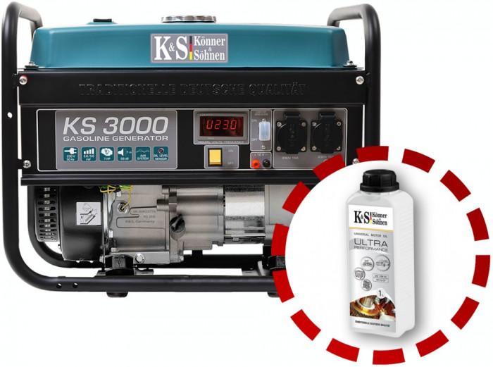 Generator curent KS 3000 Könner & Söhnen, benzina , 3.0 kW,autonomie 15h
