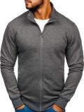 Bluză cu fermoar bărbați gri-antracit Bolf B002