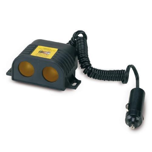 Priza auto dubla Bottari cu cablu extensibil