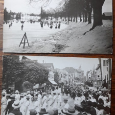 CARTI POSTALE STRAINE LOCATIE NEIDENTIFICATA - 1910 - 1912 - 2 BUC
