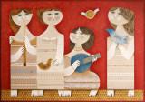 Sami ( Samy ) Briss - Muzicante - Cromolitografie imensa, Abstract, Cerneala