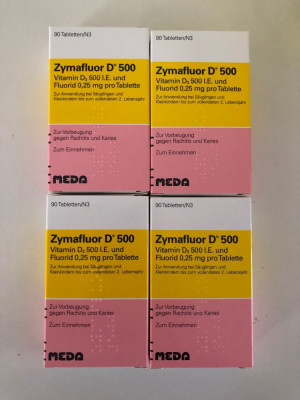 Zymafluor D500 (0.25mg + 500 unit. vit. D3) 90 tablete - valabilitate 02.2021 foto