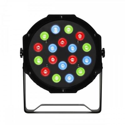 Proiector joc de lumini PAR Led, 18 leduri RGB foto